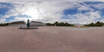 Panorama-Karlsruhe-Schlossplatz-1